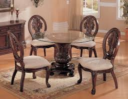 Glass Top Pedestal Dining Tables Dining Room Round Glass Pedestal Table For Really Encourage 60 Top
