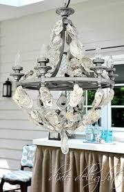 diy shell chandelier diy oyster shell chandelier completely coastal