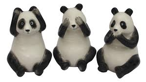 set of 3 ceramic panda ornaments scarthingwell wholesale home