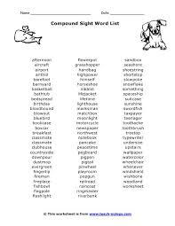 80 best phonics compound words images on pinterest compound