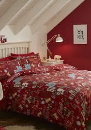 Catherine Lansfield Duvet Set Catherine Lansfield Happy Christmas Duvet Set Red Mcelhinneys