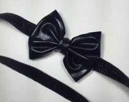black bow headband black bow headband etsy