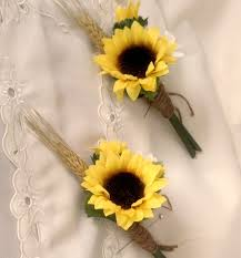 wedding flowers sunflowers sunflower wedding flowers boutonniere summer outdoor bridal