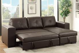 Faux Leather Sectional Sofa Poundex F6930 Convertible Faux Leather Sectional Sofa Set