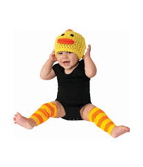 duck baby costume 6 12 months animal halloween hat and leg