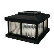 Solar Powered Post Cap Lights by Mayne Solar Light Shown In Blacksolar Lighted Mailbox Swag Post