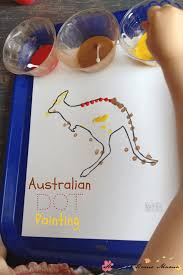 kids craft ideas aboriginal dot painting sugar spice and glitter