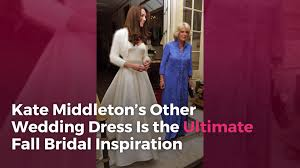 wedding dress inspiration kate middleton s other wedding dress is the ultimate fall bridal