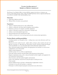 Job Resume Verbs by Medical Assistant Responsibilities Resume Verbs For Teachers