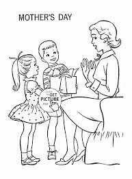 kids and happy mother mother u0027s day coloring page for kids