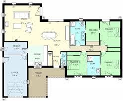 plan plain pied 5 chambres plan maison 5 chambres maison de plainpied plan de maison 5
