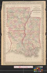 Louisiana Mississippi Map by County Map Of The States Of Arkansas Mississippi And Louisiana