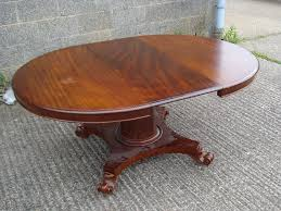 extending pedestal dining table antique furniture warehouse late regency round table large