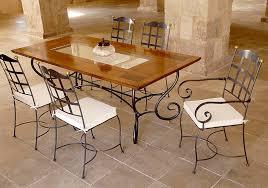 table de cuisine en fer forgé table avec rallonges en bois massif