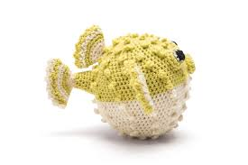 puffer fish extract from crocheted sea creatures a collection