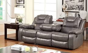 Gray Reclining Sofa by Amazon Com Furniture Of America Steely 2 Recliner Sofa Kitchen