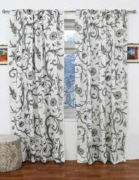 Curtain Panels Manasbal Handmade Crewel Curtain Panel Wool Embroidered Cotton Fabric