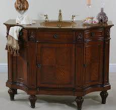 Retro Bathroom Furniture by Ultimate Accents Cherry Burl Bathroom Vanity Empire Styled Sink