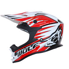 motocross helmet rockstar wulfsport advance red white black motocross helmet off road racing