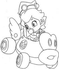 princess peach coloring video game coloring pages