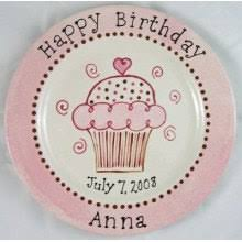 personalized birthday plate personalized birthday plates cupcake plates painted