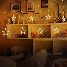 battery operated star lights shayson battery operated led hang star light 6 middle star 6