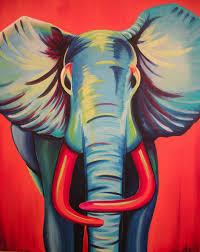 acrylic elephant on canvas google search