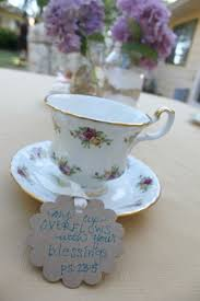 tea cup favors rustic garden tea party with david tutera casual elegance decor