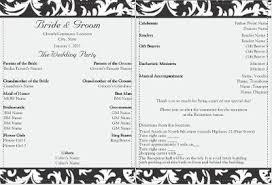 formal wedding programs wedding programs but not so formal weddings do it