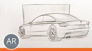 auto design studium autos zeichnen lernen dynamische bleistiftskizze