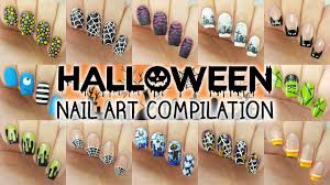 halloween nail art compilation 12 designs youtube