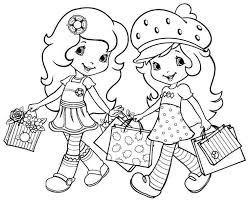 coloring pages cartoon strawberry shortcake friends printable 7864