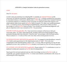 brilliant ideas of faculty promotion recommendation letter sample