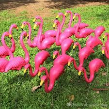 2017 artificial flamingo sculpture garden courtyard scenery