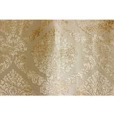 light gold n ivory damask fabric by the yard upholstery fabric