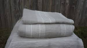 striped duvet cover handmade in natural linen superior custom