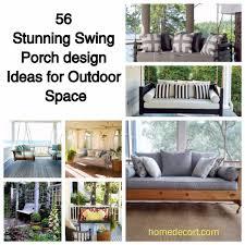 56 stunning swing porch design ideas for outdoor space homedecort