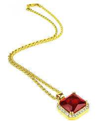necklace ruby images The gold gods aura ruby pendant necklace zumiez jpg
