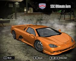 ssc ultimate aero need for speed most wanted shelby ssc ultimate aero 2010 nfscars