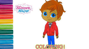 nick jr shimmer and shine zac coloring book page coloring