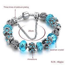 diy glass bead bracelet images 2018 european crystal charm bracelets for women with diy glass jpg