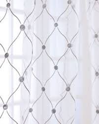 Patterned Sheer Curtains Let This Sheer Quatrefoil Burnout Curtain Frame A Picture Window