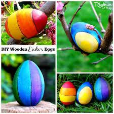 wooden easter eggs diy wooden easter eggs craft idea rhythms of play