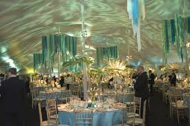 10 ideas for events with a blue color scheme
