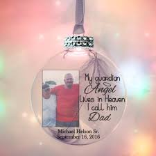 my guardian lives in heaven photo ornament with feather