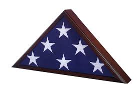 Fold Flag Military Style Amazon Com Flag Case For American Veteran Burial Flag Cherry
