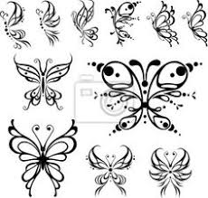 amazing tribal butterfly design small and simple butterfly