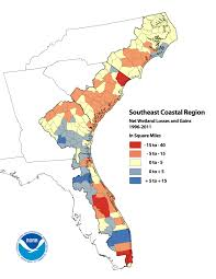 Southeast United States Map by Noaa Analysis Reveals Significant Land Cover Changes In U S