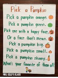 Scary Halloween Poems It U0027s Fall Cute Poem For Pumpkins Kinderland Collaborative