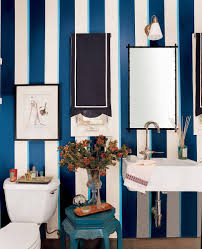 Dark Blue Accent Wall by Navy Blue Bathroom Decor Grey Stained Wooden Carving Frame Glass